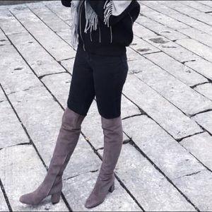 14c4b659 Saint Laurent Suede Over The Knee Boots